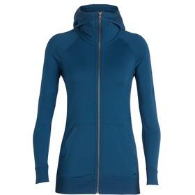 Icebreaker W's Crush LS Zip Hood prussian blue
